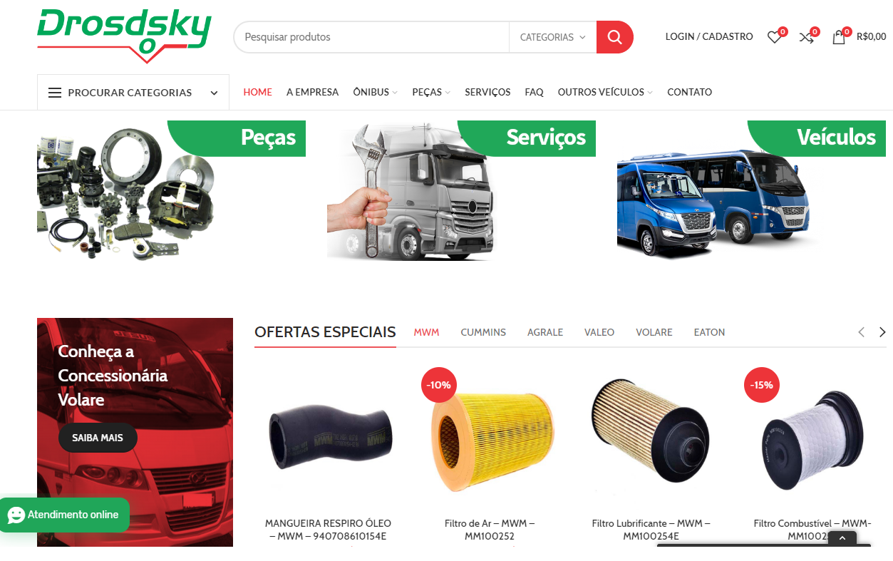 Drosdsky - Peças Veículos à Diesel